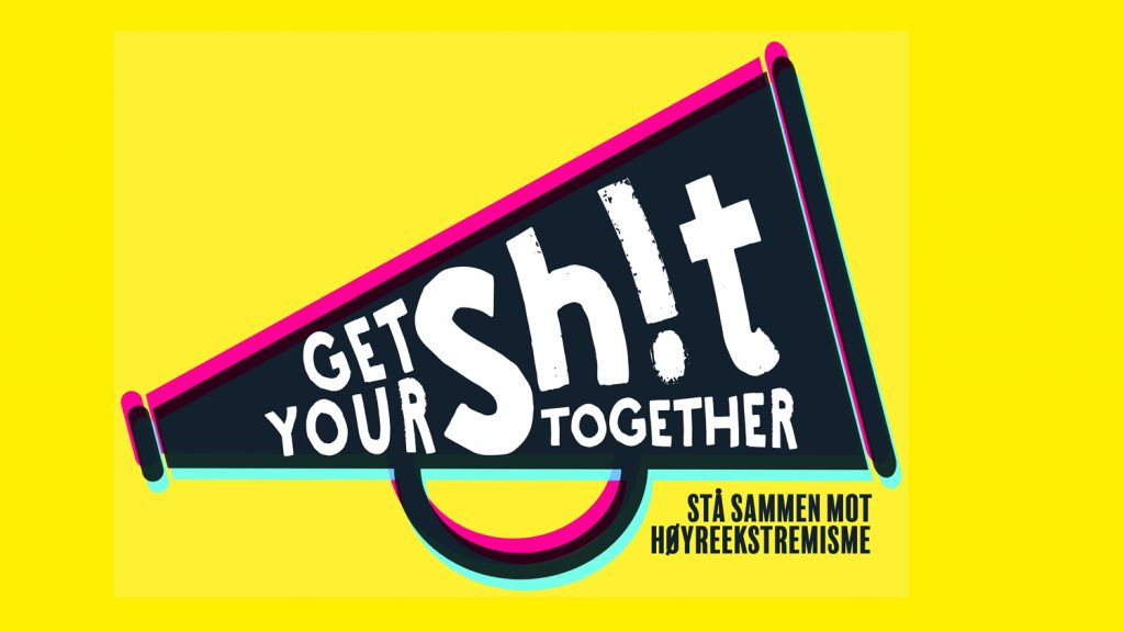 """Bilde av logoen til """"Get your sh!t together"""" festivalen"""